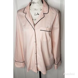 Victoria Secret Long Sleeve Pajama Button Down Top